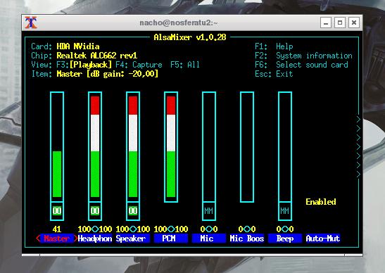 Archlinux volume control script