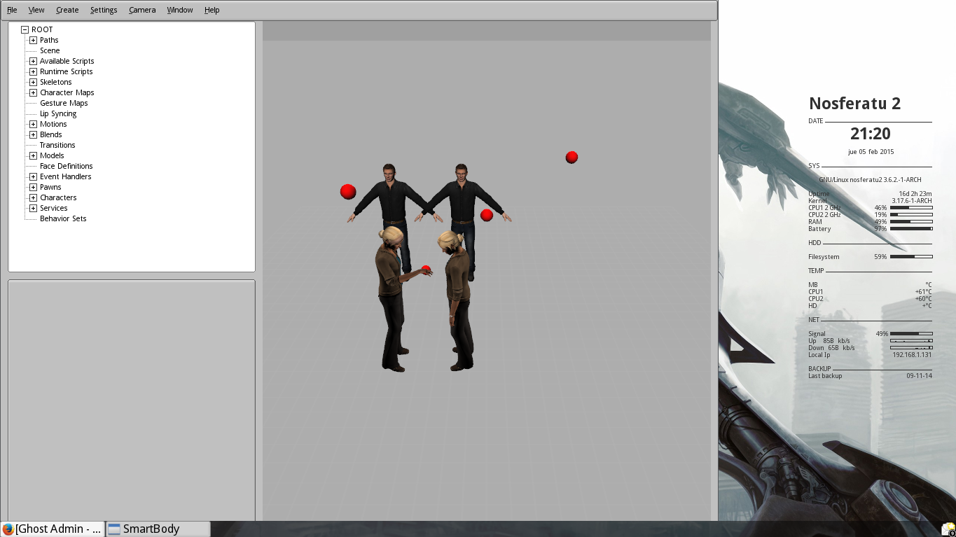 SmartyBody running