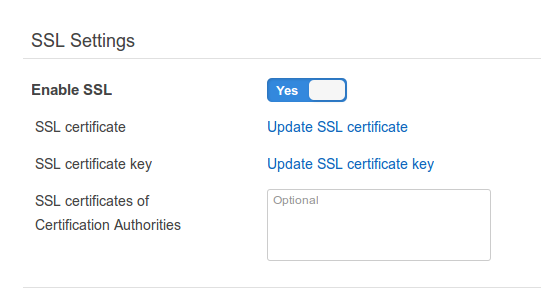 AWS Opsworks SSL settings for an aplication