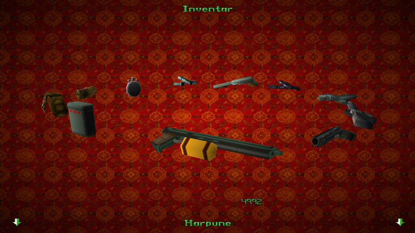 Original Tomb Raider 2 menu